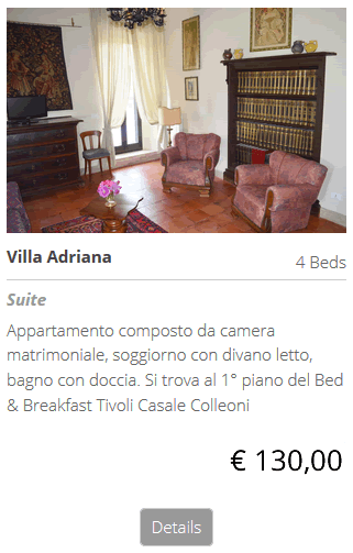 Bed and Breakfast Villa Adriana, pernotta al b&b bed breakfast a Villa Adriana Tivoli Roma