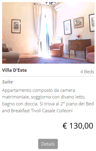 Bed and Breakfast Villa D'Este, dormi al b&b Villa D Este Tivoli bed breakfast,scopri i Prezzi: